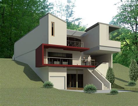 house on slope a house on a slope on behance