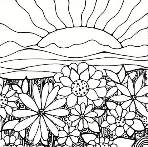 How To Draw A Flower Garden My Flower Garden Drawing How To Draw A Garden With Flowers