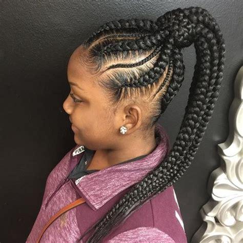 feeder braids in a ponytail satu sticker