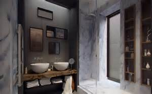 bad design ideen dunkel badezimmer design