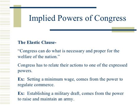 chapter 11 section 4 the implied powers answers delegated expressed powers definition