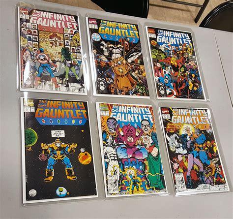 infinity gauntlet series infinity gauntlet complete series 1 6 vf da card world