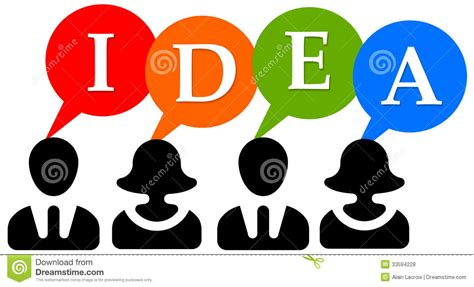 pictures of ideas team idea stock illustration image of answering analyze