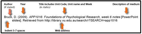 apa format lecture notes lecture notes apa referencing library guides at