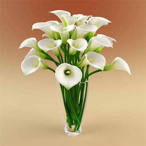 Max Vase Of Flowers by 3ds Max Vase Calla Flowers