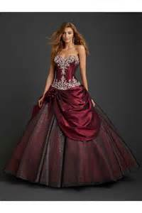 Ball gown drop waist burgundy taffeta draped corset quinceanera prom