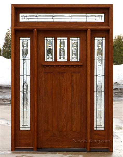 Craftsman Exterior Doors Craftsman Entry Door With Transom