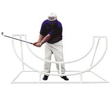 half golf swing half circle pvc swing trainer at intheholegolf com