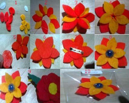 cara membuat bros bunga dari kain flanel mudah cara membuat bros dari kain flanel imagui
