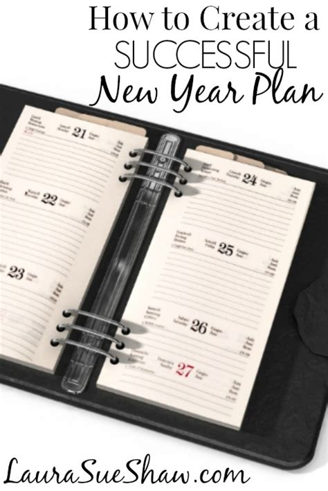 how to create an effective new year plan