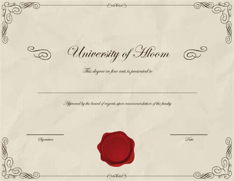 templates for degree certificates 11 free printable degree certificates templates