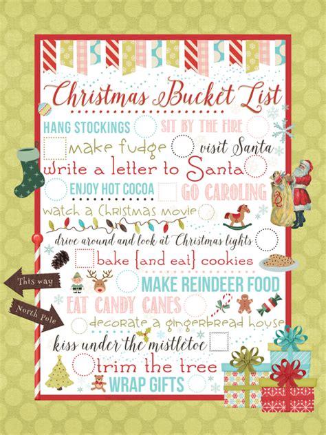 printable christmas bucket list christmas bucket list