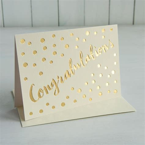 Periodic Table Test Gold Congratulations Card Rex London At Dotcomgiftshop