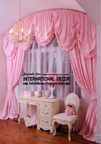 Pink curtain for girls bedroom arched curtain rod tie back curtains