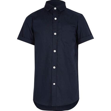 Sleeves Boys by Boys Navy Sleeve Oxford Shirt Sleeve Shirts