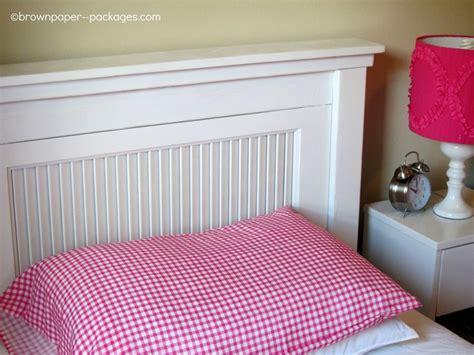 closet door headboard twin beds made out of closet doors building projects