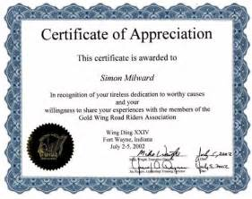 free certificates of appreciation templates doc 578443 sle certificate of appreciation 30 free