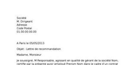 Lettre De Recommandation Officielle Exemple Gratuit De Lettre De Motivation M 233 Thodologie