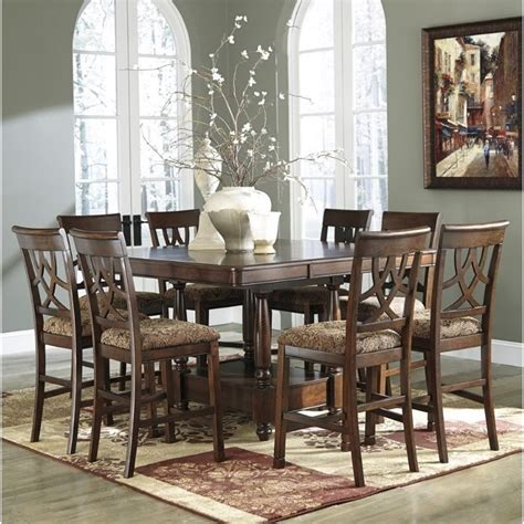 ashley leahlyn  piece counter height extendable dining