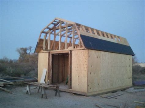 shed  gambrel roofing question carpentry