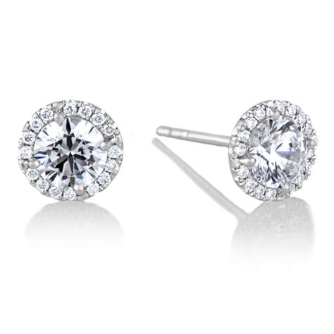 white and gold l cz stud earrings white gold white cz studs elephant