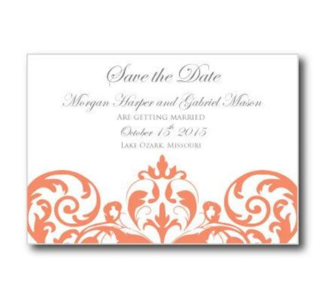 Save The Date Wedding Cards Template Free by Wedding Save The Date Card Template Instant