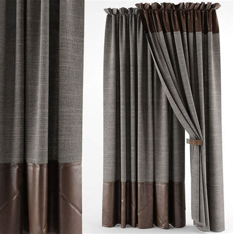 leather curtains drapes leather curtains 3d model max obj cgtrader com