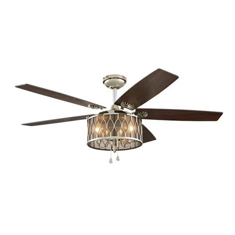 harbour ceiling fan light kit harbor angora harbor 52 in polished nickel downrod