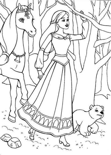 coloring pages barbie horse barbie coloring pages coloring pages for kids