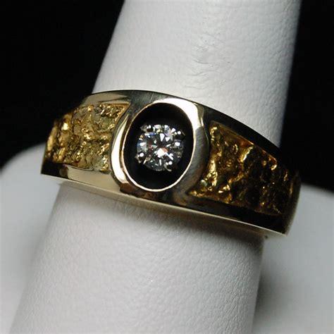 nugget mens ring 14k yellow goldhytrek s jewelers