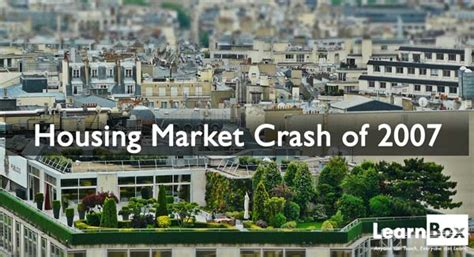 next housing market crash the learnblog learnbox