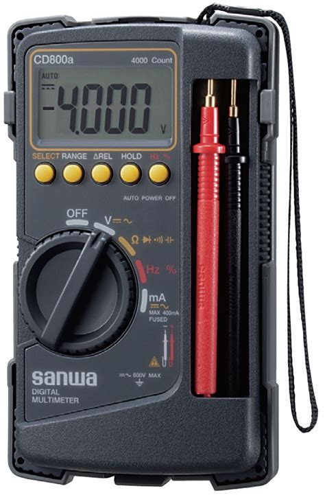 Multitester Sanwa sanwa digital multimeter cd800a multimeters cl meters horme singapore
