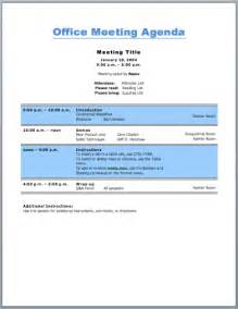 nice office meeting agenda template sample with bold blue