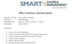 Children S Ministry Volunteer Job Description Church Managment Pinterest Volunteer Jobs Church Volunteer Description Template