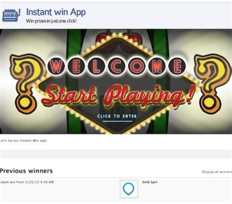 Instant Win Contests - how to choose the right type of facebook contest