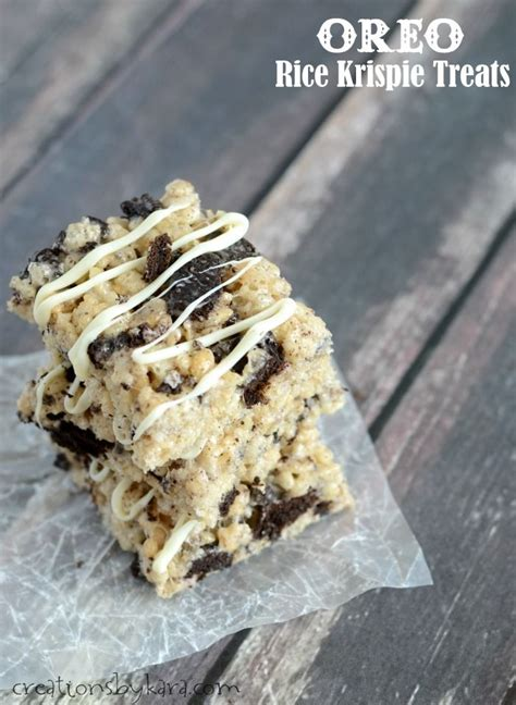 Banana Crispy Black White Oreo 17 best images about desserts krispie treats other cereal based desserts on