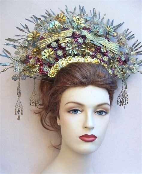 Kopfschmuck Braut Seitlich by Vintage Headdress Sumatra Indonesia Wedding Headdress