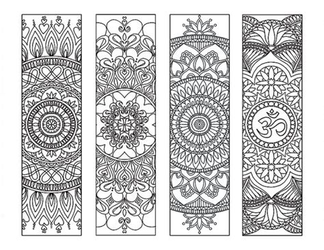 peace colouring bookmarks 4 mandala colouring bookmarks meditation peace joy