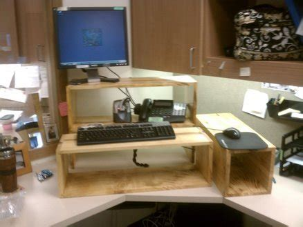 Stand Up Desk Modification By Allanwoodworks Standing Desk Modification
