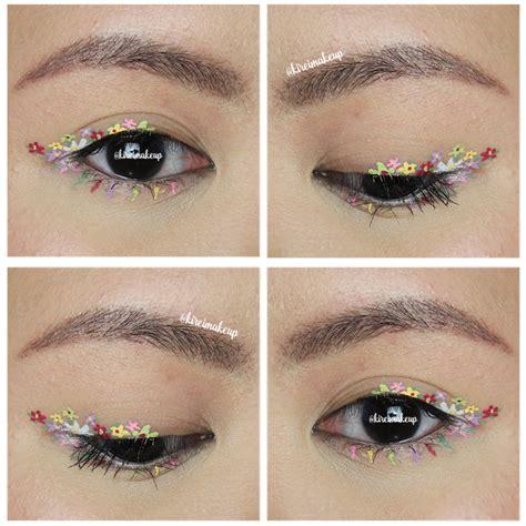Flower Eyeliner Powder Brown flowers liners ft nyx brights liner kirei makeup