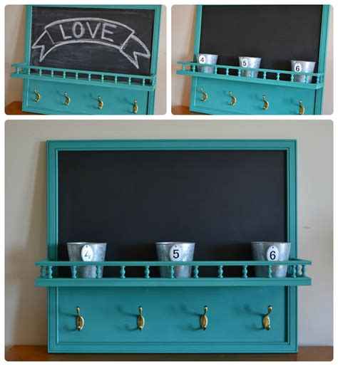 Chalkboard Shelf by Funky Junk Chalkboard Hook Shelf
