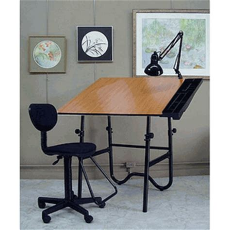 Alvin Onyx Cherry Black Creative Center Folding Drawing Alvin Onyx Drafting Table