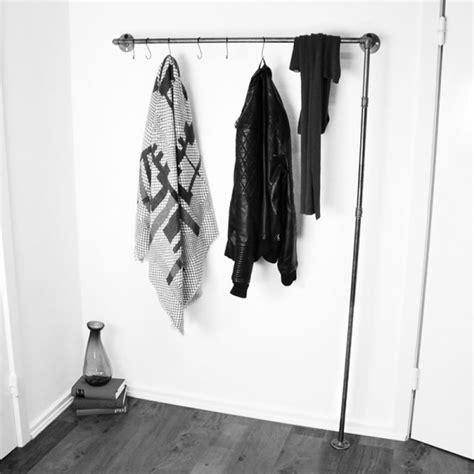 garderobe industrial kleiderstange garderobe wandgarderobe wardrobe