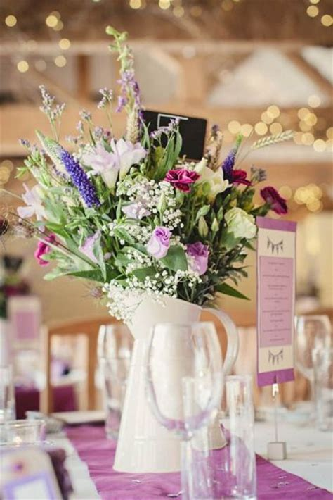 wedding table decorations flowers uk modern and vintage wedding decorations with jugs 21