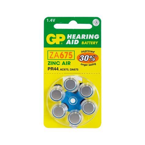 Sony Hearing Aid Battery Za 675 Pr44 gp za675b6 hearing aid battery 6 pack size 675 pr44 ac675 gp radio parts electronics