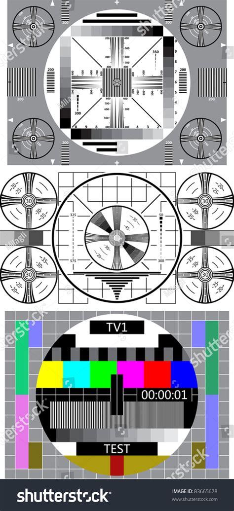 test pattern svg tv test pattern stock vector illustration 83665678