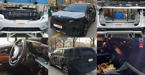 gen  kia carnival grille bumpers  interior leaked