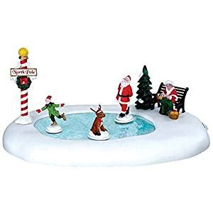 mr christmas vintage skaters village lemax collection pole follies 64045 arts crafts sewing