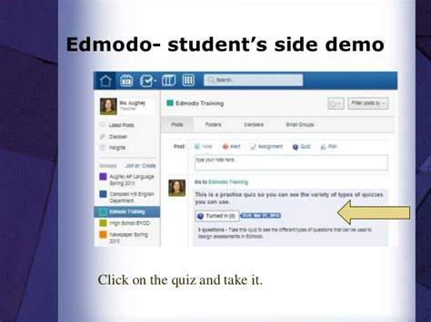 edmodo student tutorial video edmodo training