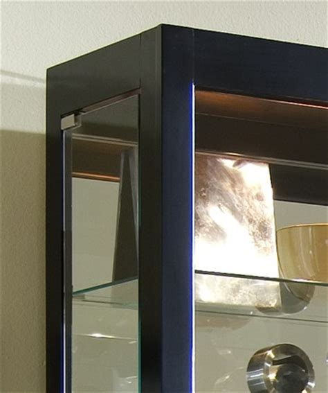 curio cabinet in onyx black by pulaski home gallery stores